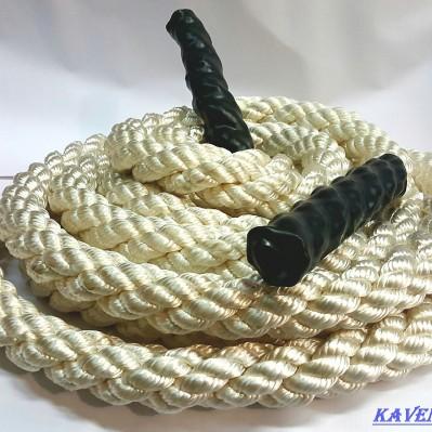 Канат капроновый кабельтовой свивки для кроссфит д40мм